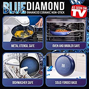 Blue Diamond Pan CC001951-001 Cookware-Set, Blue