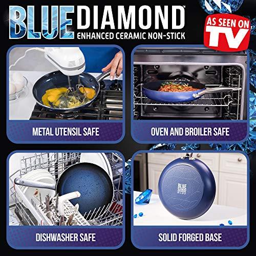 Blue Diamond CC001598-001 Toxin Free Ceramic Nonstick Metal Utensil Open Frypan, 12'' by Blue Diamond (Image #3)