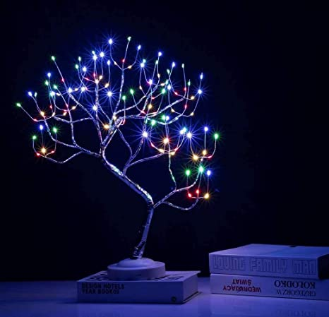 Warm White Auelife 20 Tabletop Bonsai Tree Light With Eight Functions Lighted Tree Copper Wire Tree Lights Diy Artificial Light Tree Lamp Decoration For Gift Home Wedding Festival Holiday Home Kitchen Artificial