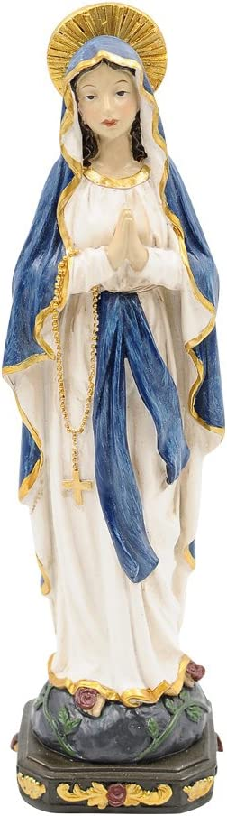"""Comfy Hour 6"""" Religious Praying Virgin Mary Statue, The Blessed Mother of The Immaculate Comception Home Madonna Figurine"""