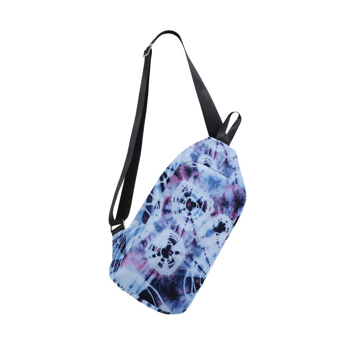 TFONE Abstract Tie Dye Swirll Crossbody Bag Lightweight Chest Shoulder Messenger Pack Backpack Sling Bag