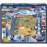 White Mountain Puzzles Oregon - 1000 Piece Jigsaw Puzzle