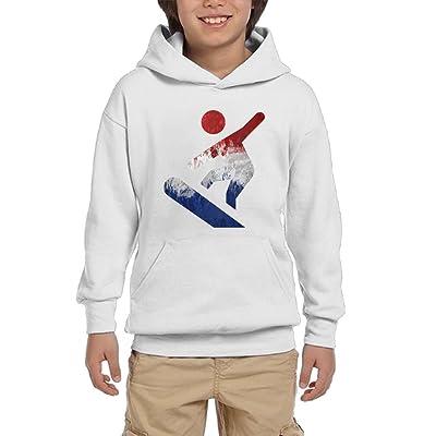 Snowboarding Dutch Flag Through The Bottom Youth Unisex Hoodies Print Pullover Sweatshirts
