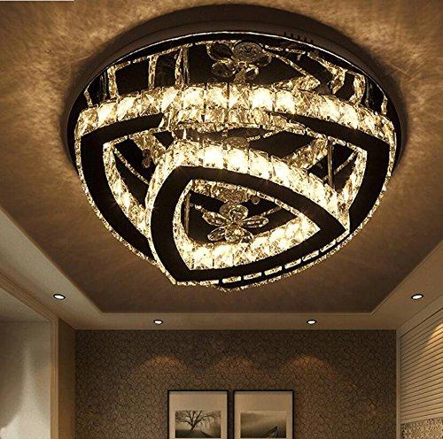 ZWL Led Lámparas de techo de cristal, sala de matrimonio ...
