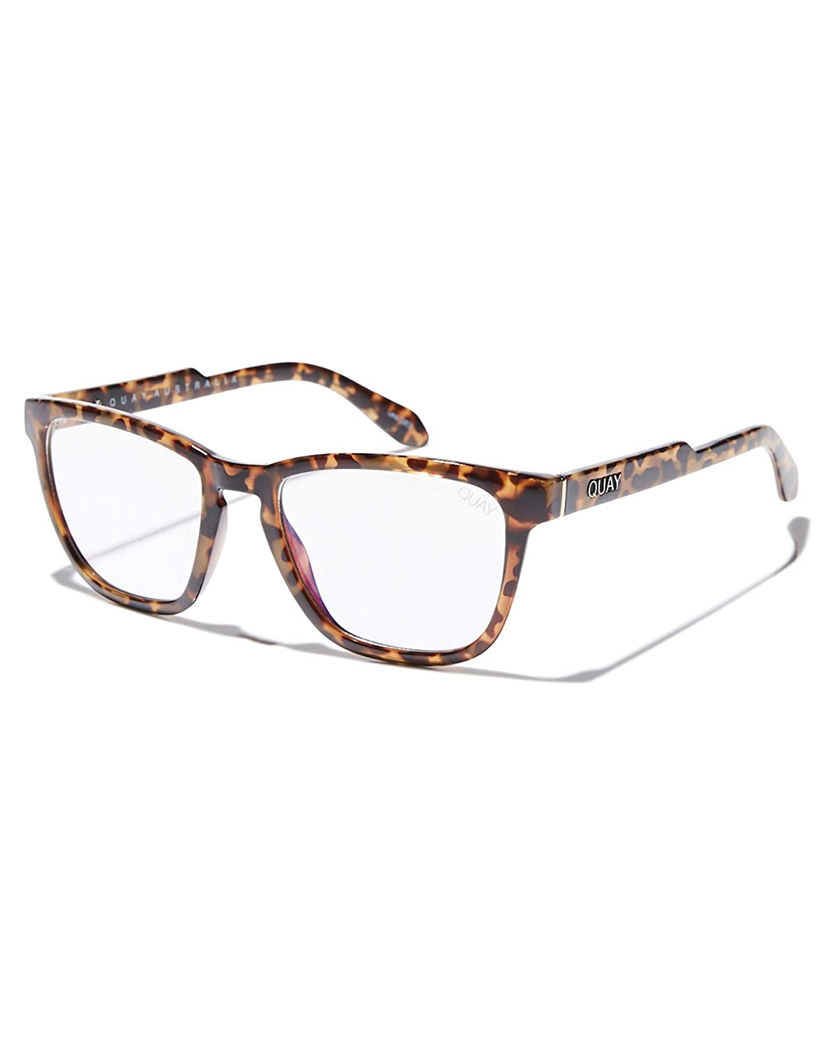 5fc78f40f9 Amazon.com  Quay Australia Women s Hardwire Blue Light Glasses (Black Clear  Blue Light Lens