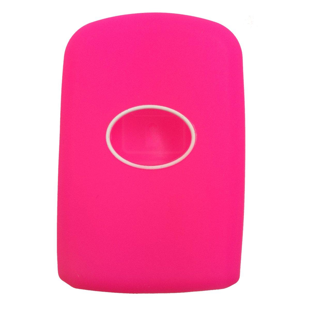 Alegender Hand Sew Leather Remote Key Fob Cover Case Protector Holder Skin Jacket for 2014 2015 2016 Toyota Highlander RAV4 Camry Avalon Corolla 4 Buttons Smart Key