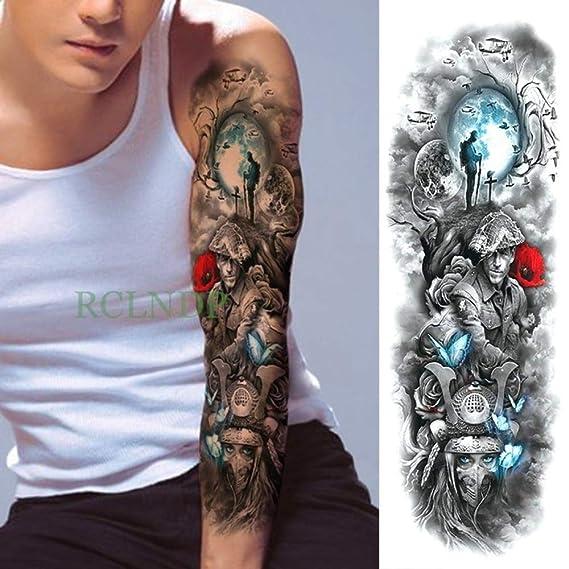 3pcs impermeable etiqueta engomada del tatuaje del rosa rojo del ...