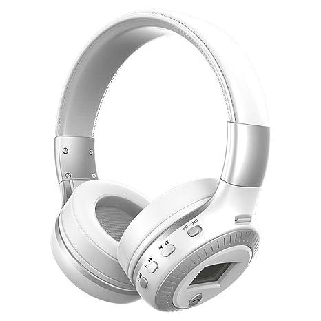 Republe Auriculares estéreo inalámbrico Bluetooth para auriculares Ranura para tarjeta micro auriculares Auriculares Micro-SD