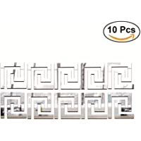 Acrylic Mirror Wall Stickers for Wall Top Living Room Bedroom Ceiling Roof TV Background Waist line Decorative Mirror Decals & Murals