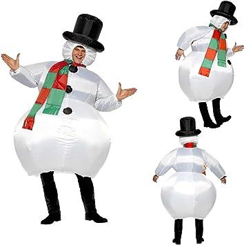 NET TOYS Traje Hinchable Atuendo muñeco de Nieve Inflable Bola de ...