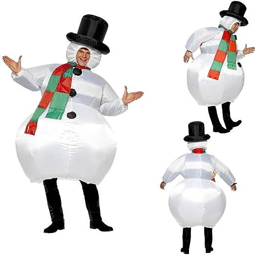 Atuendo muñeco de nieve inflable Traje hinchable Vestimenta ...