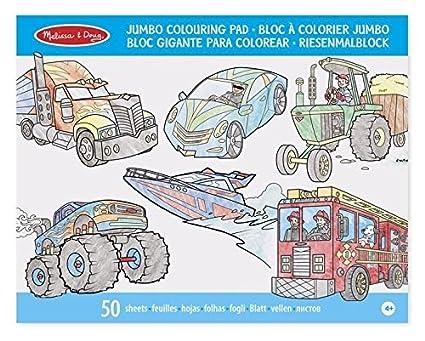 Melissa & Doug Bloc gigante para colorear vehiculos: Amazon.com.mx ...