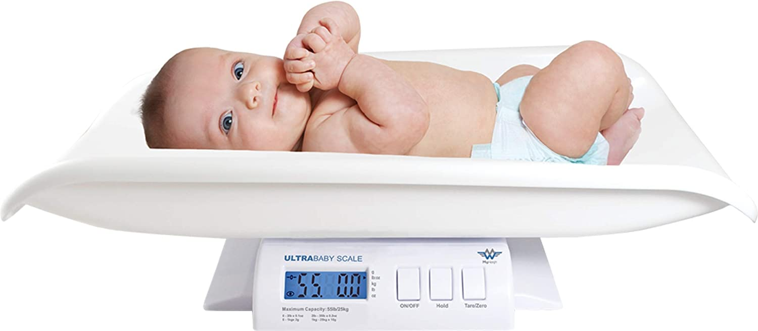 B0007P4BNA My Weigh Ultra Baby Precision Digital Baby or Pet Scale, 55 Pound Capacity 61aKlPoC3mL.SL1500_