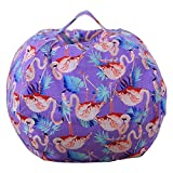 Cheap Dodd Kid's Stuff'n Sit – Stuffed Animals Storage Bean Bag Pouf -Available in 3 Sizes- Clean up the Room and Put Those Critters to Work for You,Flamingo (38 inch)
