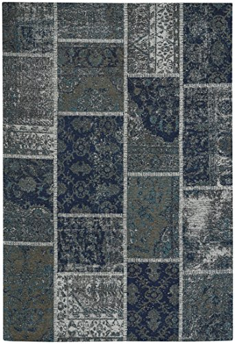 Capel Rugs Celestial-Patchwork Rectangle Flat Woven Rug, 8' x 10', Azure Smoke (Capel 10 Rugs)
