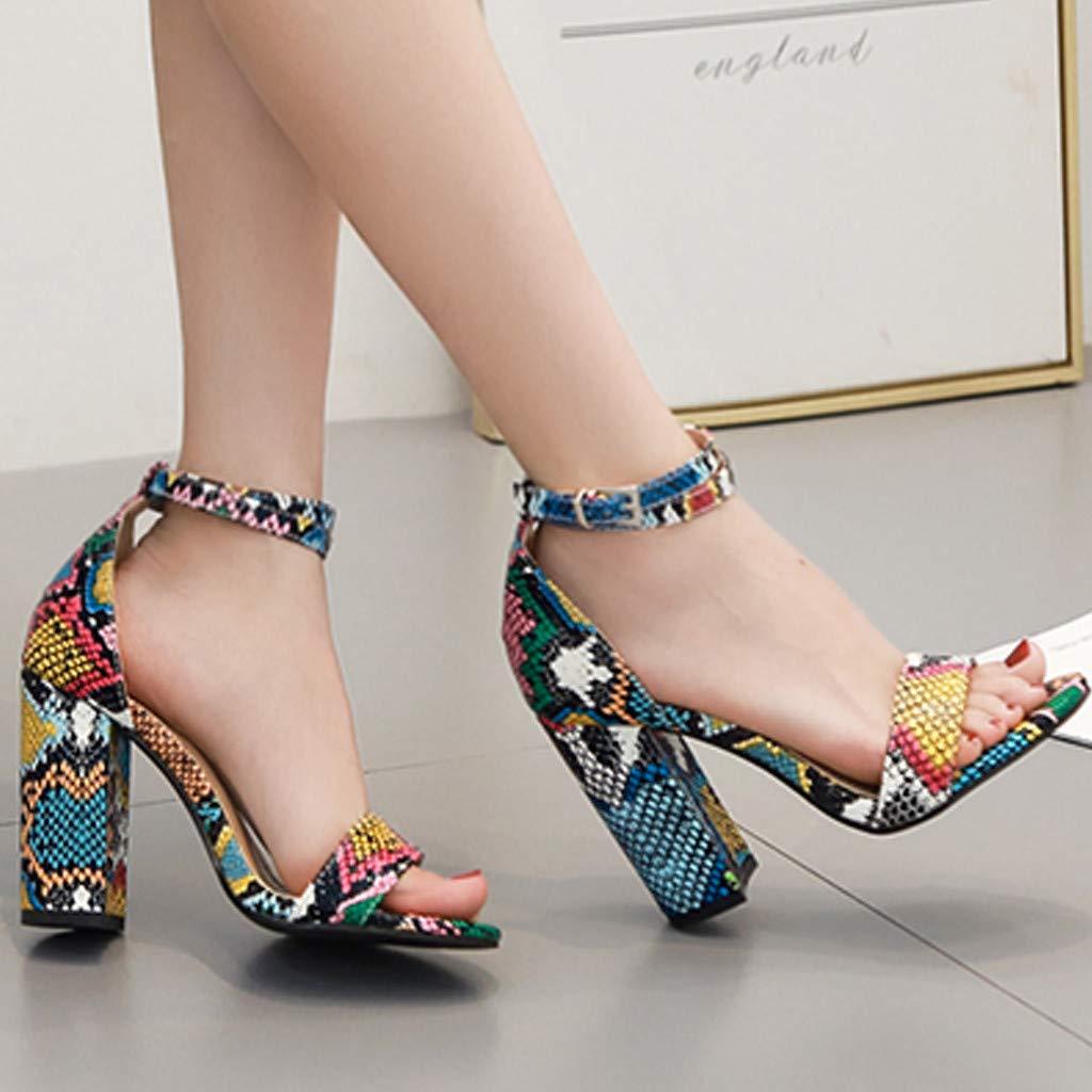 7eeb532ea3645 Amazon.com: lotus.flower Women's Sandals Open-Toe High Heels Fashion ...