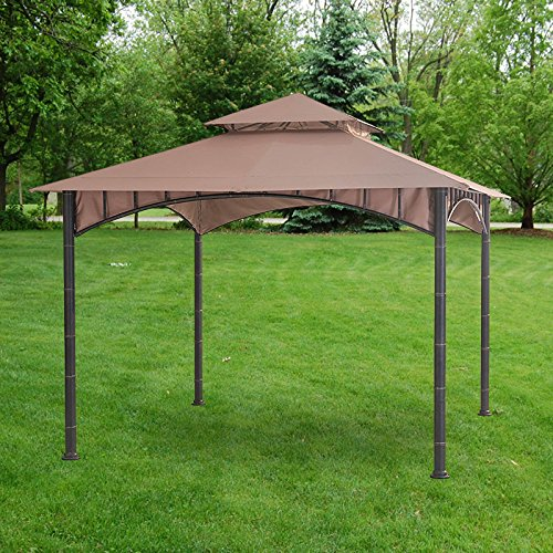 Garden Winds Replacement Canopy Top Cover for the Summer Breeze Gazebo D-GZ136PST-N - RipLock 350