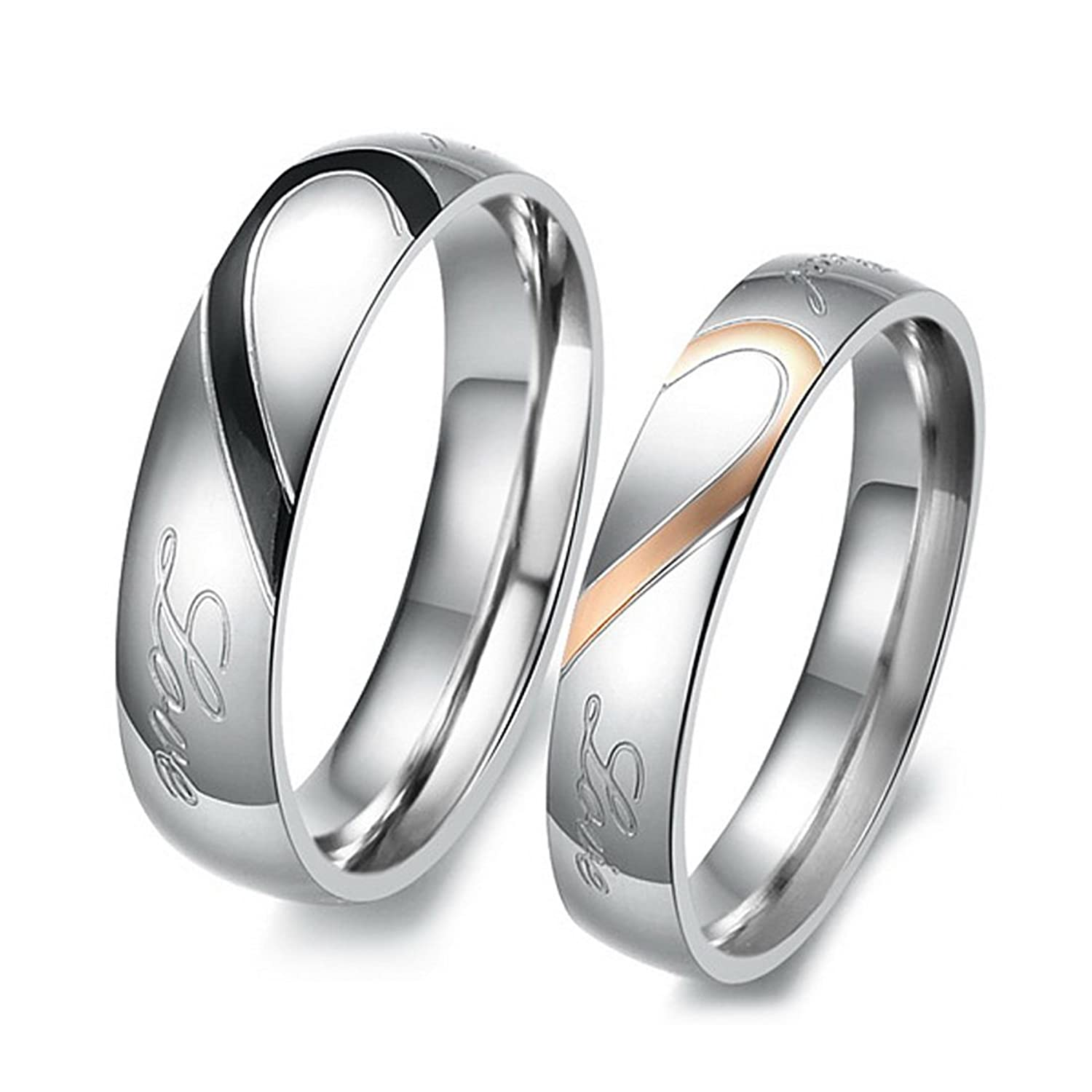 product rings stainless silver alliance couple quality ring bands band steel heart colour home