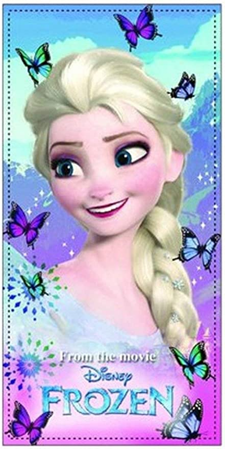 Elsa de Disney Frozen de niños – Toalla/Sauna Toalla de baño/Toalla de