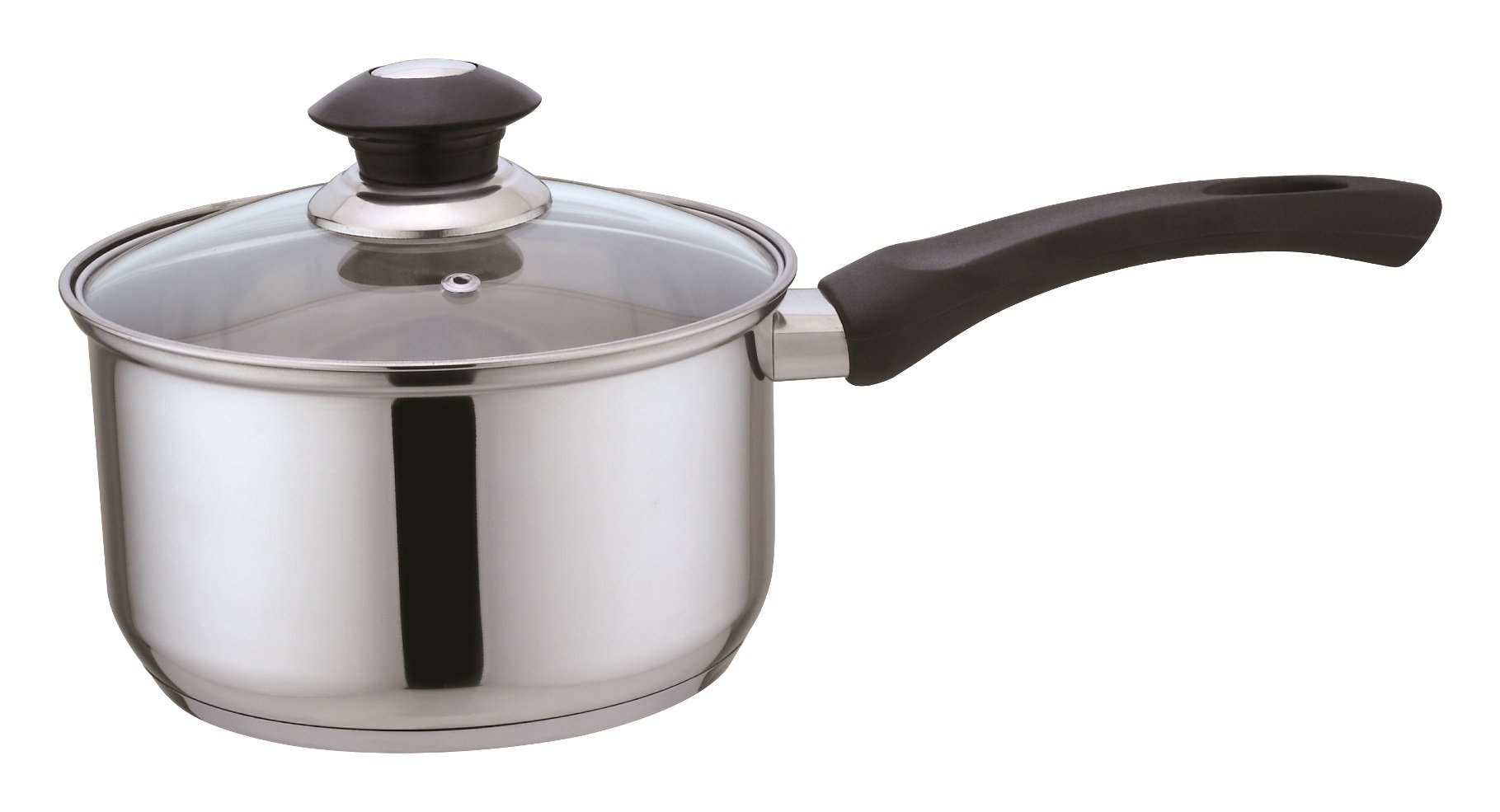 Kitchen Sence Stainless Steel Sauce Pan with Glass Lid (1.2 Quart)
