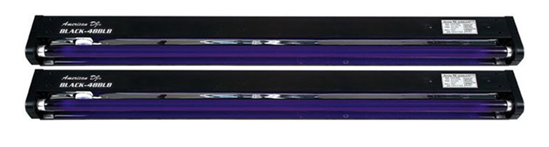 American DJ 48 Inch UV Black Pro Black Light Dorm Party Light Fixture (2 Pack)