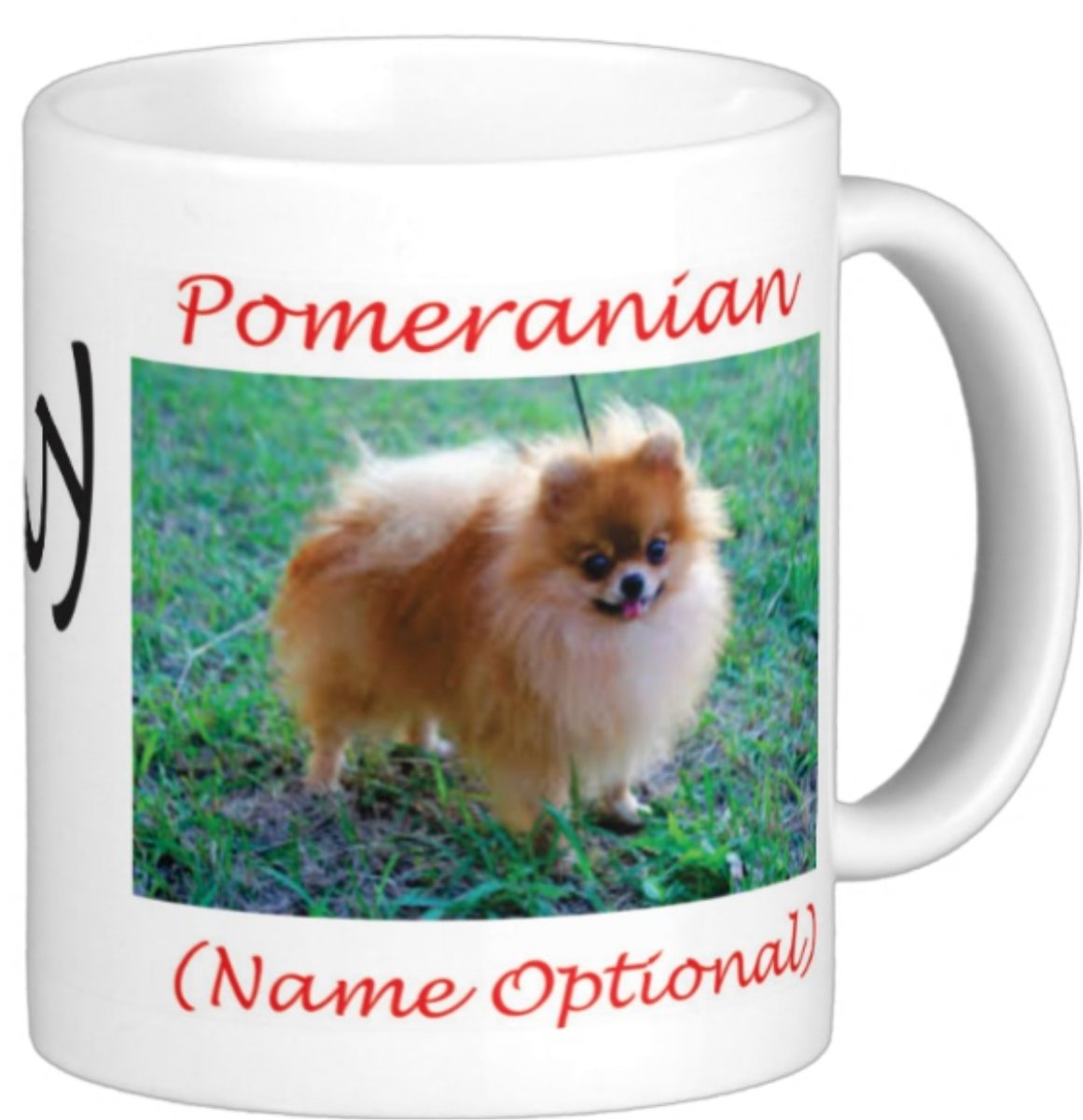 I Love My Pomeranian on 11 0z。Personalizedコーヒーマグfor Dog Loversギフトポンポン付き4 B00TXXYATM