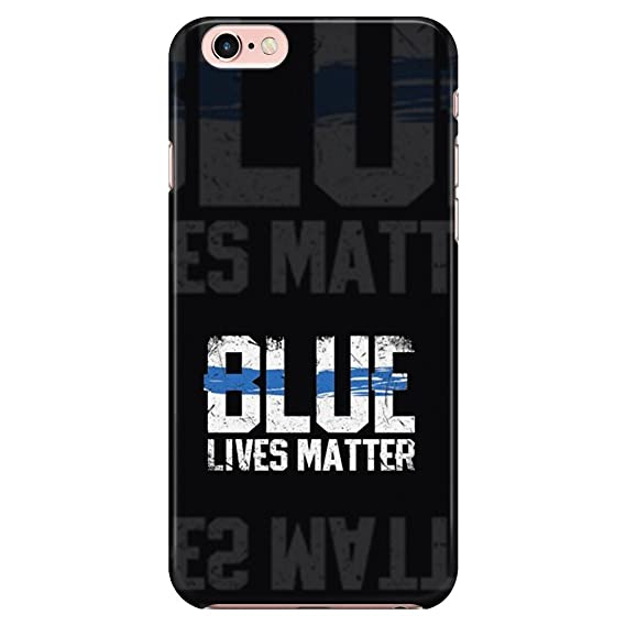 Turbo Delivery LLC Blue Lives Matter Police Law Enforcement -Rubber Case for New Apple iPhone