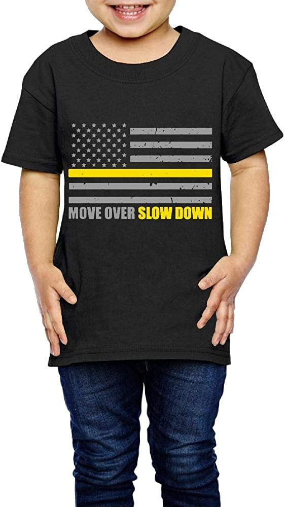Move Over Slow Down Tow Truck Driver Flag 2-6 Years Old Boys /& Girls Short Sleeve Tee Shirt