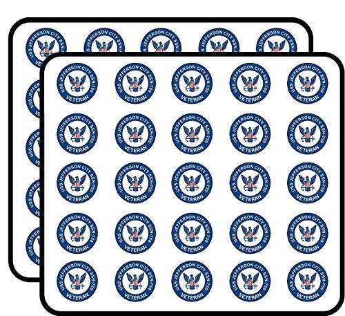 US Navy USS Jefferson City SSN-753 Veteran Military Veteran Served 50 Pack Sticker for Scrapbooking, Calendars, Arts, Album, Bullet Journals and More -