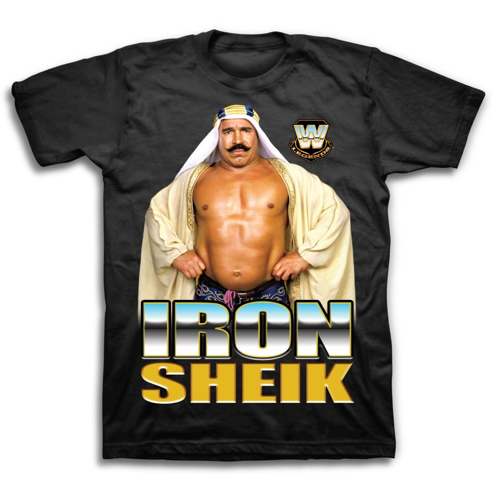 Iron Sheik Pose WWE Legends Mens T-shirt-XL