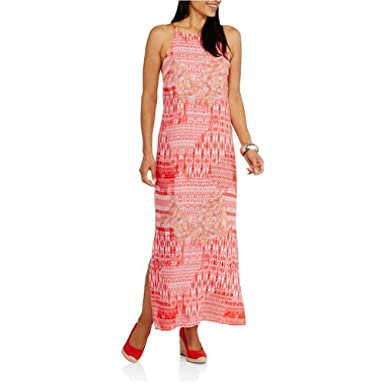 f0ff64dd11b Faded Glory Women s Printed Woven Maxi Dress at Amazon Women s ...