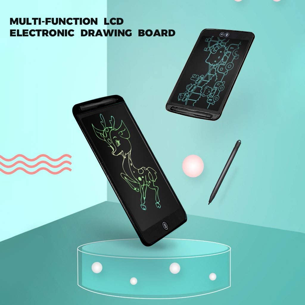 Black Drawing Board Gifts for Kids and Adults at Home 6.5 Inch Drawing Tablet Kids Tablets Doodle Board School and Office FlyKits LCD Writing Tablet