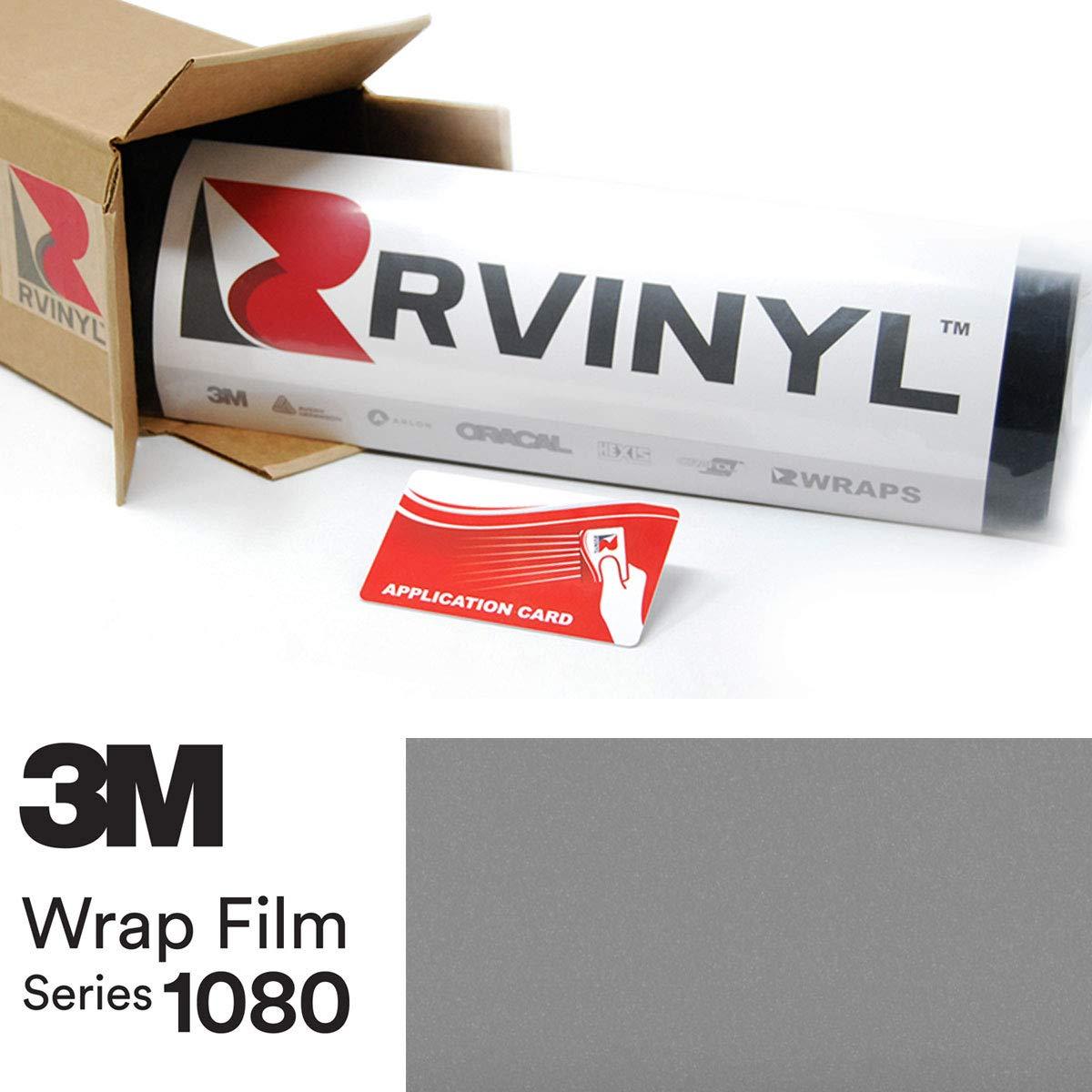 3M 1080 G251 Gloss Sterling Silver 5ft x 1ft W//Application Card Vinyl Vehicle Car Wrap Film Sheet Roll