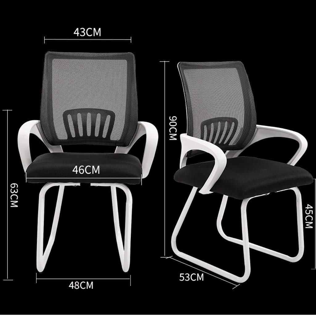 LUGEUK datorstol hem, bekväm konferensstol, kontorsstol, sovsal arbetsstol, kontor ryggstol (färg: B) c