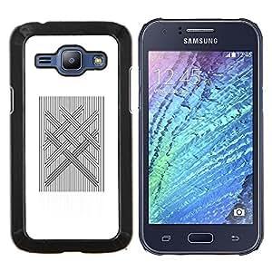 "For Samsung Galaxy J1 J100 Case , Computer Art acolchado Vikingo Blanca"" - Diseño Patrón Teléfono Caso Cubierta Case Bumper Duro Protección Case Cover Funda"