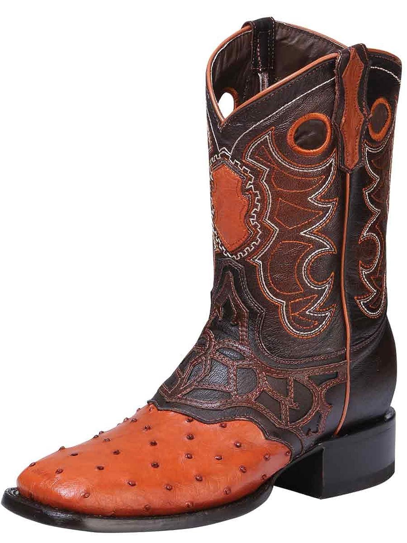 7e7437d158 85%OFF Bota Rodeo Exótico/a ID 33290 El General (BRE) Avestruz. Breckelles  ED03 Women Leatherette Open Toe Chunky Heel Mule Single ...