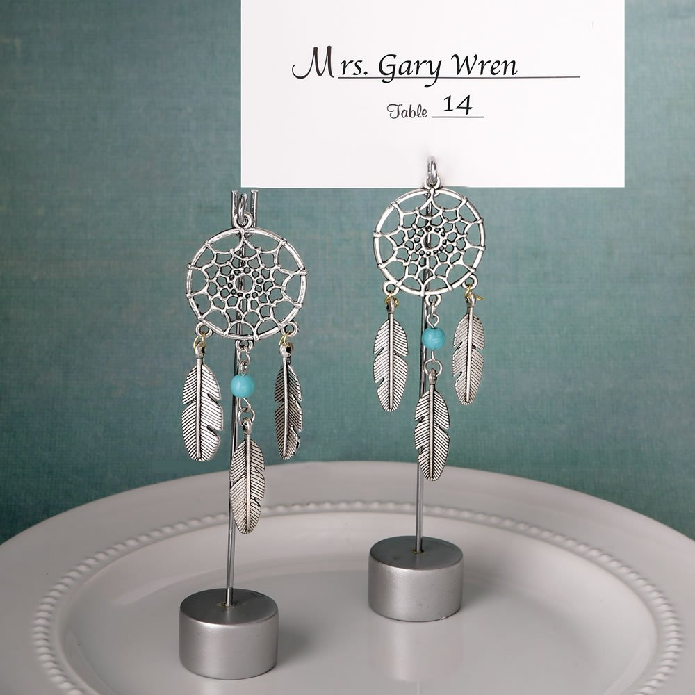 100 Dream Catcher Place Card Holders / Photo Holders in Southwest / American Indian Design