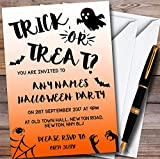 Ghost & Bats Personalized Halloween Party Invitations