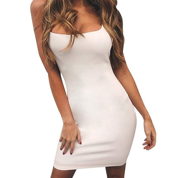 Rooper Vestidos Mujer Casual, Vestido Ajustado con Tirantes De Verano para Mujer Club De Fiesta por La Noche,Mini Vestido Corto Vestido Fiesta Mujer ...