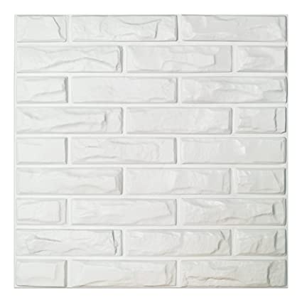 Art3d PVC 3D Wall Panels White Brick Tiles 197quot X