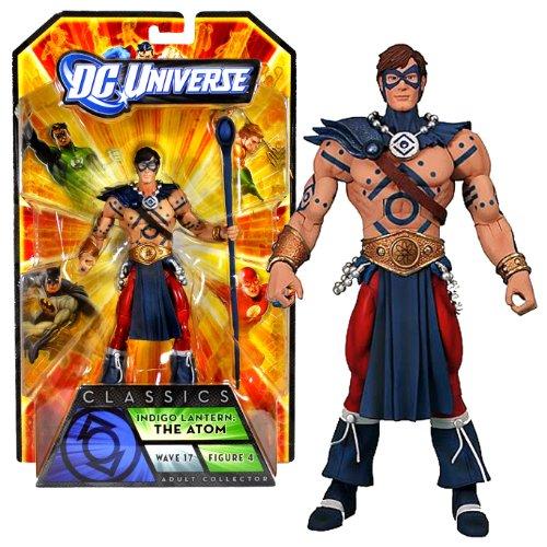 Mattel Year 2010 DC Universe Wave 17 Classics Series 6 Inch Tall Action Figure #4 - INDIGO LANTERN : THE ATOM with Indigo Staff Plus The Anti-Monitor's Right Arm (V2888)