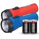 Energizer EVEL152S Eveready LED Economy Flashlight-D-PolypropyleneCasing-Blue, Red