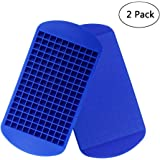 Silicone Mini Ice Cube Trays 2 Pack, 160 Small Ice Cube Molds Easy Release Crushed Ice Cube for Chilling Whiskey Cocktail, BP