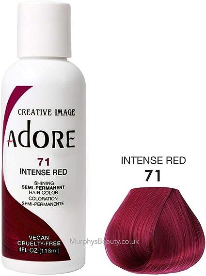 Adore Brillante Tinte de Pelo Semi Permanente, 71 Rojo Intenso