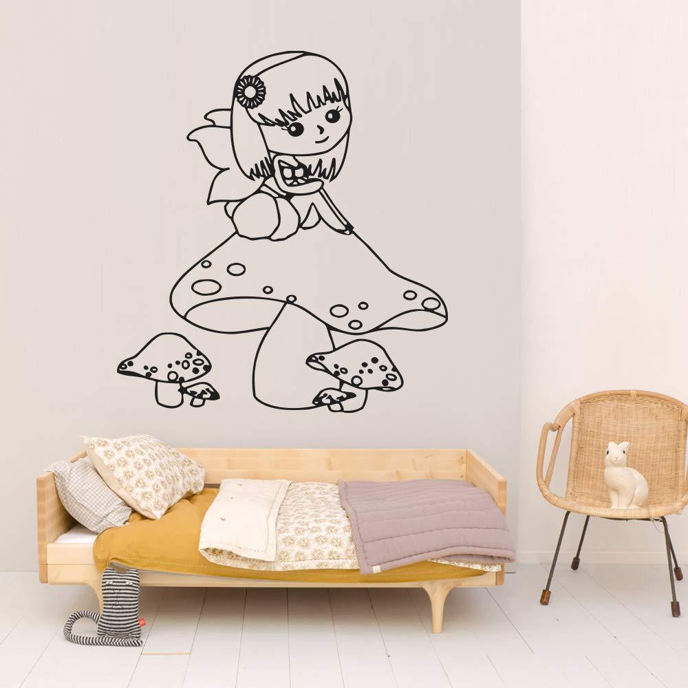 Fairy Magic Angel Wall Sticker Pink Purple Children Decals Mural Home Art Decor