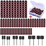 AUSTOR 252 Pieces Sanding Drum Kit with Free Box Including 240 Pieces Drum Sander Sanding Sleeves and 12 Pieces Drum Mandrels for Dremel Rotary Tool: more info