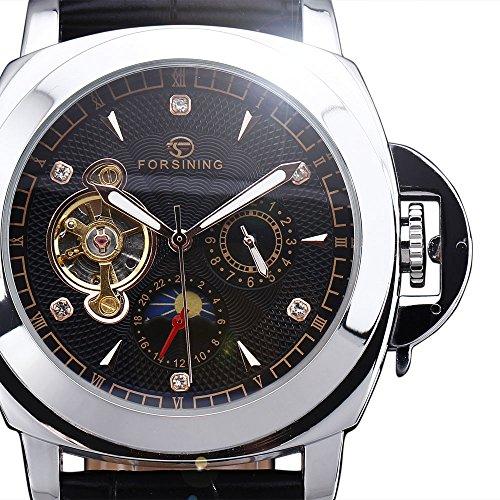 Homme Posh Crystal Montre Mechanical Watch Skeleton Leather Number Men Forsining Dial Tourbillion Wrist Roman Strap Sub LSqMpUzGV
