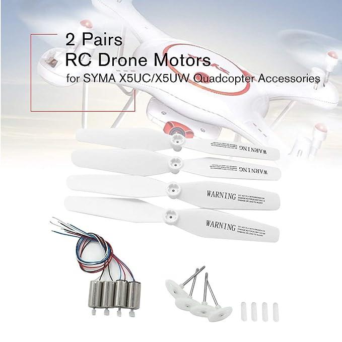 Feketeuki 2 Pares de Motores RC Drone CCW CW Motor Motor con ...