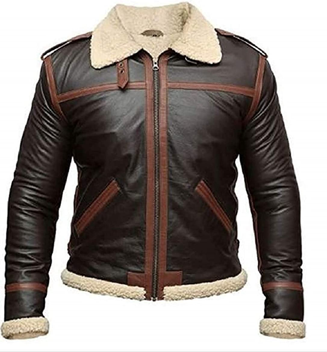 Resident Evil IV Leon Scott Kennedy Faux Shearling Brown Cosplay Leather Jacket