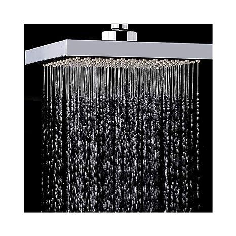 LYHSWANG Rociador de Ducha para baño 6 Pulgadas Cuadrado ABS ...